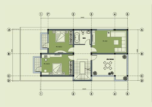 Phương án tư vấn thiết kế biệt thự 2 mặt tiền 9x18m - P.Archi